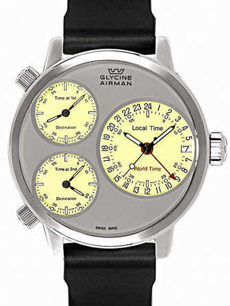 Glycine Airman 7 Silver Circle 3829.151-D Watch - 3829.151-d-1.jpg - lorenzaccio