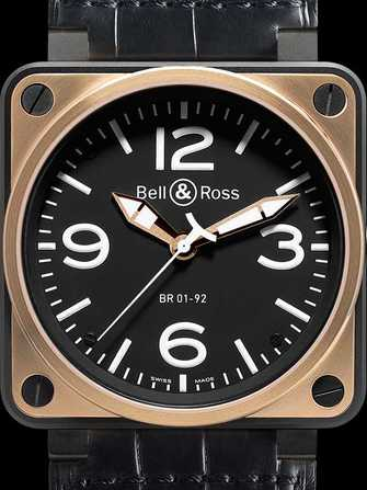 Bell & Ross Aviation BR 01-92 Rose Gold & Carbon Watch - br-01-92-rose-gold-carbon-1.jpg - mier