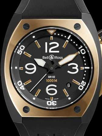 Bell & Ross Marine BR 02-92 Rose Gold & Carbon Watch - br-02-92-rose-gold-carbon-1.jpg - mier