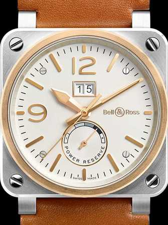 Bell & Ross Aviation BR 03-90 Steel & Rose Gold Watch - br-03-90-steel-rose-gold-1.jpg - mier
