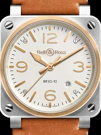 Bell & Ross Aviation BR 03-92 Steel & Rose Gold Watch - br-03-92-steel-rose-gold-1.jpg - mier