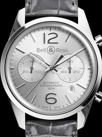 Bell & Ross Vintage BR 126 Officer Silver Watch - br-126-officer-silver-1.jpg - mier