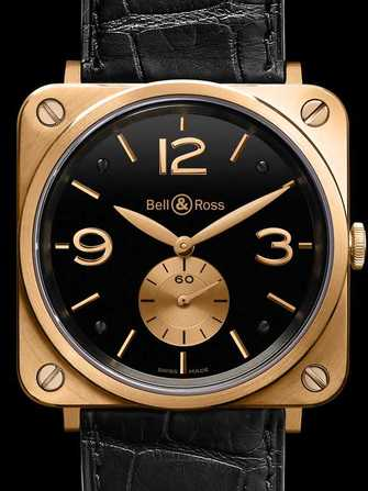 Bell & Ross Aviation BR S Pink Gold & Black Watch - br-s-pink-gold-black-1.jpg - mier