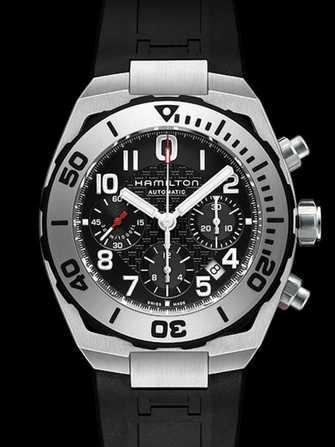 Hamilton Khaki Navy Sub Auto Chrono Watch Stainless Steel