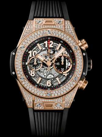 Hublot Big Bang Unico King Gold Pavé 411.OX.11180.RX.1704 Watch - 411.ox.11180.rx.1704-1.jpg - mier