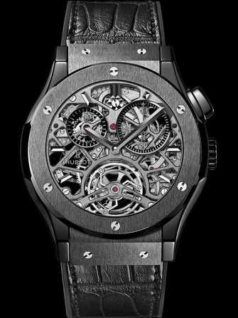 Hublot Classic Fusion Tourbillon Skeleton All Black 506.CM.0140.LR Watch - 506.cm.0140.lr-1.jpg - mier