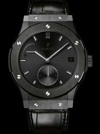 Hublot Classic Fusion Power Reserve All Black 516.CM.1440.LR Watch - 516.cm.1440.lr-1.jpg - mier