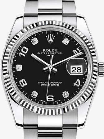 Rolex Oyster Perpetual Date 34 115234-black Watch - 115234-black-1.jpg - mier