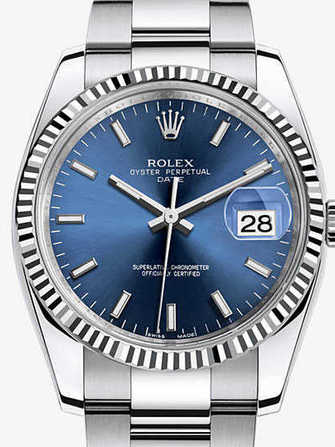 Rolex Oyster Perpetual Date 34 115234-blue Watch - 115234-blue-1.jpg - mier