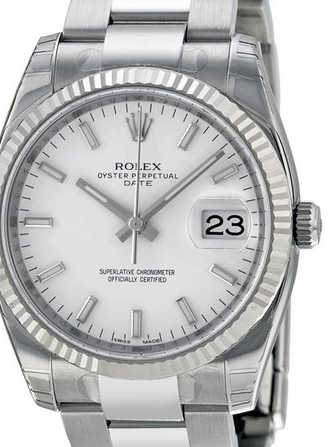Rolex Oyster Perpetual Date 34 115234-white Watch - 115234-white-1.jpg - mier
