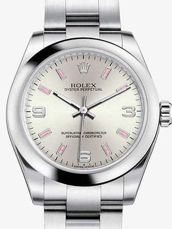 Rolex Oyster Perpetual 26 176200-silver Watch - 176200-silver-1.jpg - mier