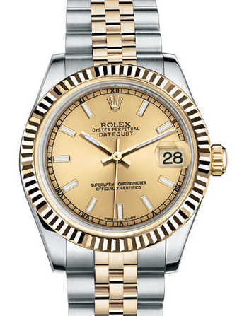 Rolex Datejust 31 178273-champagne Watch - 178273-champagne-1.jpg - mier