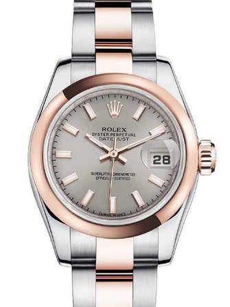 Rolex Lady-Datejust 26 179161-pink gold & silver Watch - 179161-pink-gold-silver-1.jpg - mier