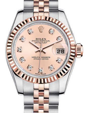 Rolex Lady-Datejust 26 179171-pink gold Watch - 179171-pink-gold-1.jpg - mier