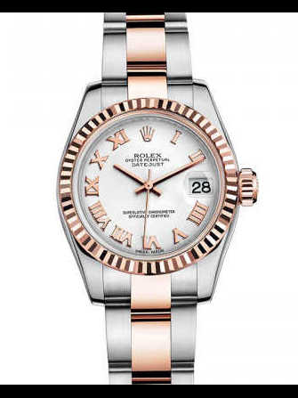 Rolex Lady-Datejust 26 179171-white & pink gold Watch - 179171-white-pink-gold-1.jpg - mier