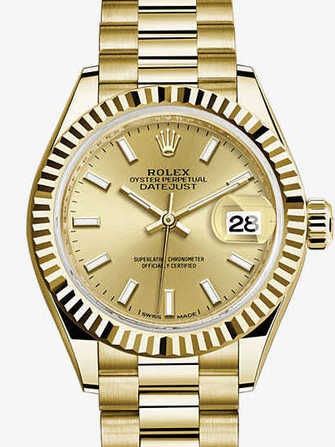 Rolex Lady-Datejust 28 279178-yellow gold Watch - 279178-yellow-gold-1.jpg - mier