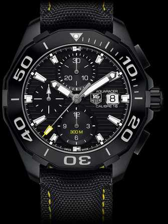 TAG Heuer Aquaracer 300M Calibre 16 Automatic Chronograph Black Version CAY218A.FC6361 Watch - cay218a.fc6361-1.jpg - mier