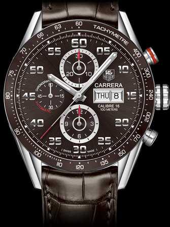 "TAG Heuer Carrera Calibre 16 Day-Date ""Brown"" CV2A1S.FC6236 Watch - cv2a1s.fc6236-1.jpg - mier"