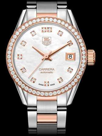 TAG Heuer Carrera Calibre 9 Automatic Watch Steel, Diamond & Rose Gold WAR2453.BD0777 Watch - war2453.bd0777-1.jpg - mier