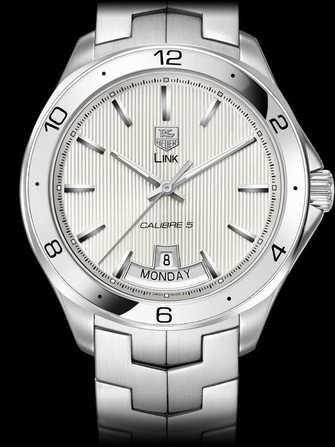 TAG Heuer Link Calibre 5 Day-Date Automatic Watch WAT2011.BA0951 Watch - wat2011.ba0951-1.jpg - mier